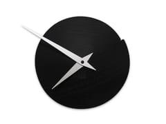 Orologio in legno da pareteVULCANELLO BLACK ASH - LEONARDO TRADE