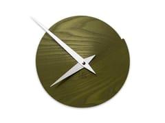 Orologio in legno da pareteVULCANELLO LIGHT GREEN ASH - LEONARDO TRADE