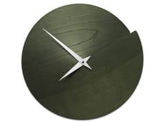 Orologio in legno da pareteVULCANO NUDE DARK GREEN ASH - LEONARDO TRADE