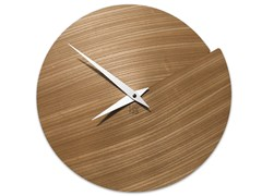 Orologio in legno da pareteVULCANO NUDE ELM - LEONARDO TRADE