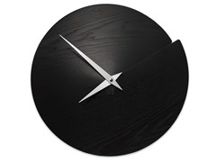 Orologio in legno da pareteVULCANO NUDE BLACK ASH - LEONARDO TRADE
