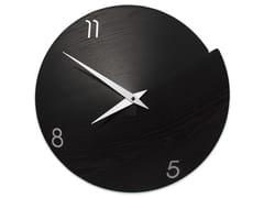 Orologio in legno da pareteVULCANO NUMBERS BLACK ASH - LEONARDO TRADE