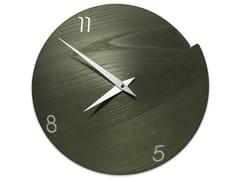 Orologio in legno da pareteVULCANO NUMBERS DARK GREEN ASH - LEONARDO TRADE