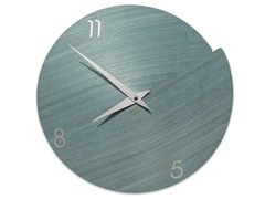 Orologio in legno da pareteVULCANO NUMBERS LIGHT BLUE TAY - LEONARDO TRADE