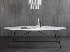 Tavolo ovale in pietra naturale W | Tavolo ovale - Tavolo W