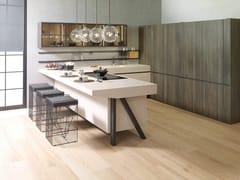 Cucina componibile laccata in derivati del legno in stile moderno con penisolaWABI 9.30 / E2.65 - GAMADECOR - PORCELANOSA GRUPO