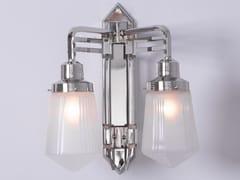 Lampada da parete a luce diretta fatta a mano in nichel HOFFMANN II | Lampada da parete - Hoffmann