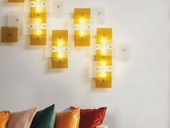 Lampada da parete in vetro di MuranoMARIPOSA QUADRA   Lampada da parete - ZAFFERANO AILATI LIGHTS