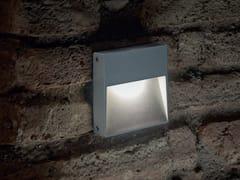 Segnapasso a LED a parete in alluminioSTAMP with eyelid - GOCCIA ILLUMINAZIONE