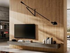 Mobile TV sospeso in vetro con cassettiMATERIA | Mobile TV sospeso - LAGO