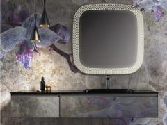 Mobile lavabo componibile sospeso in vetro+SKIN | Mobile lavabo in vetro - ARTELINEA