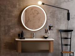 Mobile lavabo sospeso in noce con cassettiINCANTO | Mobile lavabo sospeso - ARTELINEA