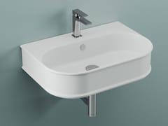 Lavabo ovale sospeso in ceramicaATELIER | Lavabo sospeso - ARTCERAM