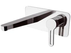 Miscelatore per lavabo a muro monocomando con piastra SMART | Miscelatore per lavabo a muro - Smart