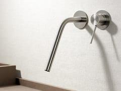 Miscelatore incasso per lavabo a muro in acciaio inox CORSIVO 11419 - CORSIVO