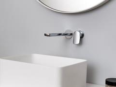 Miscelatore per lavabo a muro in ottone cromatoBRIM | Miscelatore per lavabo a muro - ZUCCHETTI RUBINETTERIA