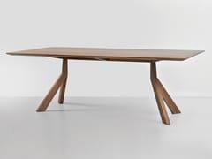 Tavolo rettangolare in legno impiallacciatoBRIDGE   Tavolo in legno impiallacciato - HEMONIDES FURNITURE