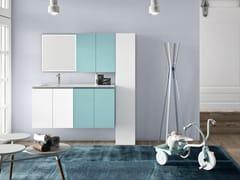 Mobile lavanderia sospeso in melamina con lavatoioWASH - COMPOSIZIONE 10 - ALPEMADRE