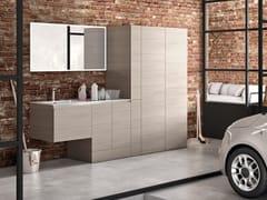Mobile lavanderia in melamina con ante a battente con lavatoioWASH - COMPOSIZIONE 11 - ALPEMADRE