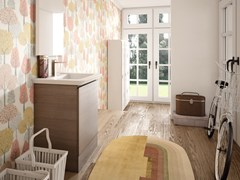 Mobile lavanderia in melamina con specchioWASH - COMPOSIZIONE 2 - ALPEMADRE