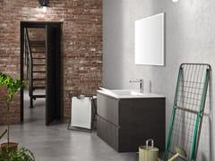 Mobile lavanderia sospeso in melamina con cassettiWASH - COMPOSIZIONE 3 - ALPEMADRE