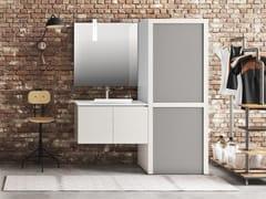 Mobile lavanderia a colonna sospeso in melamina per lavatriceWASH - COMPOSIZIONE 5 - ALPEMADRE