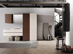 Mobile lavanderia a colonna in melamina con lavatoioWASH - COMPOSIZIONE 8 - ALPEMADRE