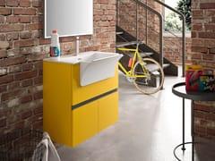 Mobile lavanderia sospeso con specchioWASH - COMPOSIZIONE 4 - ALPEMADRE