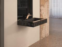 Lavabo rettangolare sospeso in acciaioBETTELOFT ORNAMENT MIDNIGHT | Lavabo - BETTE