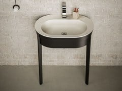 Lavabo a consolle ovale in Solid SurfacePAYDAY | Lavabo - BLUBLEU