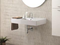 Lavabo rettangolare singolo in ceramica con troppopienoSQUARE | Lavabo - COLAVENE