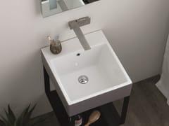 Lavabo quadrato singolo in ceramica con troppopienoVOLANT | Lavabo - COLAVENE