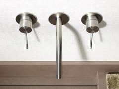 Gruppo per lavabo a 3 fori a muro in acciaio inox CORSIVO 11816 - CORSIVO
