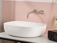 Miscelatore per lavabo a 2 fori a muro in acciaio inox SYNTH | Miscelatore per lavabo a 2 fori - SYNTH