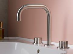 Rubinetto per lavabo a 3 fori da piano in acciaio inox SYNTH | Rubinetto per lavabo a 3 fori - SYNTH