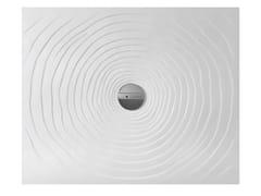Piatto doccia rettangolare in ceramica WATER DROP 80 X 100 - Water Drop