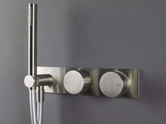 Miscelatore doccia/vasca da parete con deviatore e doccetta WAVE - 1220171/2 - Wave