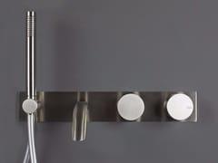 Miscelatore doccia/vasca da parete con deviatore e doccetta WAVE - 1220211/2 - Wave