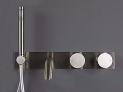 Miscelatore doccia/vasca da parete con deviatore e doccetta WAVE - 1220401/2 - Wave