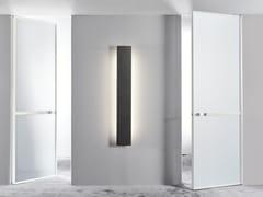 Porta a battente in vetro satinato WAVE | Porta a battente - Aluminium Chic