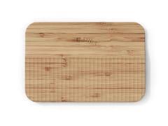 Tagliere in bambù con pattern guida-taglioWAVE | Tagliere in bambù - TREBONN