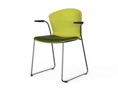 Sedia a slitta con braccioliWHASS | Sedia con braccioli - ACTIU