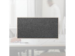 Pannello divisorio da scrivania fonoassorbente in lanaWHISPERWOOL DIVA | Pannello divisorio da scrivania - TANTE LOTTE DESIGN