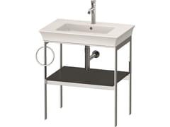 Consolle lavabo da terra singolo in metallo con porta asciugamaniWHITE TULIP WT4543 / WT4544 | Consolle lavabo con porta asciugamani - DURAVIT