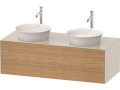 Mobile lavabo doppio sospeso in legno con cassettiWHITE TULIP WT4978 | Mobile lavabo doppio - DURAVIT