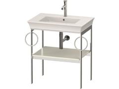 Consolle lavabo da terra singolo in metallo con porta asciugamaniWHITE TULIPE WT4546 / WT4547 | Consolle lavabo - DURAVIT