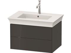 Mobile lavabo singolo sospeso in legno con cassettiWHITE TULIP WT4341 / WT4342 | Mobile lavabo - DURAVIT