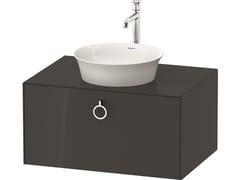 Mobile lavabo singolo sospeso in legno con cassettiWHITE TULIP WT4980 / WT4981 | Mobile lavabo con cassetti - DURAVIT
