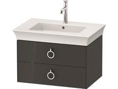 Mobile lavabo singolo sospeso in legno con cassettiWHITE TULIP WT4351 / WT4352 | Mobile lavabo - DURAVIT