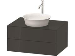 Mobile lavabo singolo sospeso in legno con cassettiWHITE TULIP WT4985 / WT4986 | Mobile lavabo con cassetti - DURAVIT